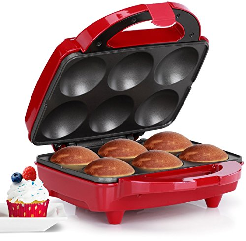 Holstein Housewares HF-09013R Cupcake maker - Red/Stainless