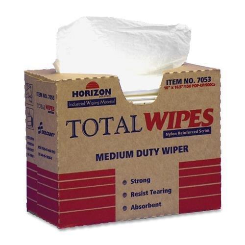 SKILCRAFT All-Purpose Wipers, Medium Duty,13-1/4