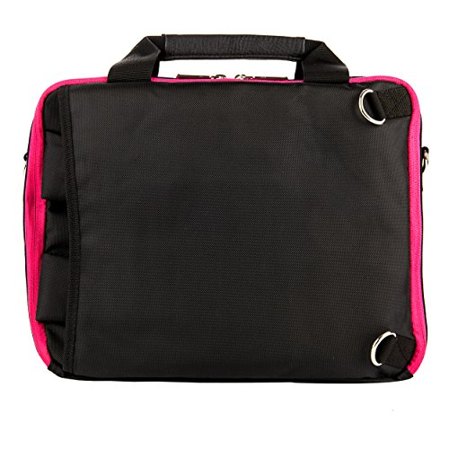 Executive Travel Carrying Bag, Messenger Bag & Backpack For Samsung Galaxy Tab PRO / Galaxy Note PRO 12.2'' Tablet + Pink Bluetooth Suction Speaker by Vangoddy (Image #2)