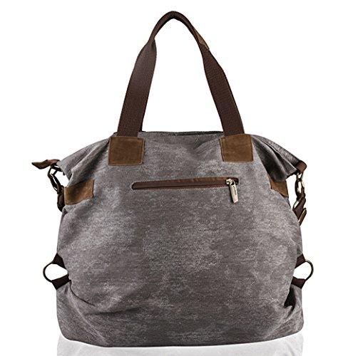 Hobo Canvas Vintage Crossbody Retro Shopper Grey Women Handbag Fansela qwg7Hag