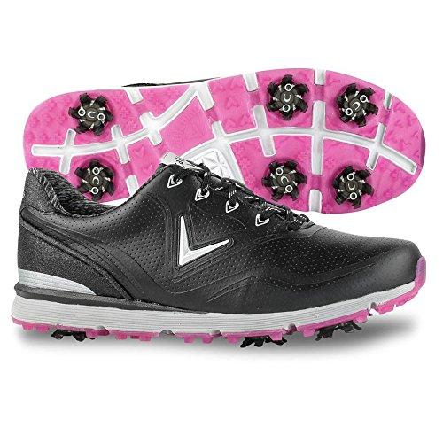 Callaway Women's Halo Golf Shoe, Black, 8 B B US