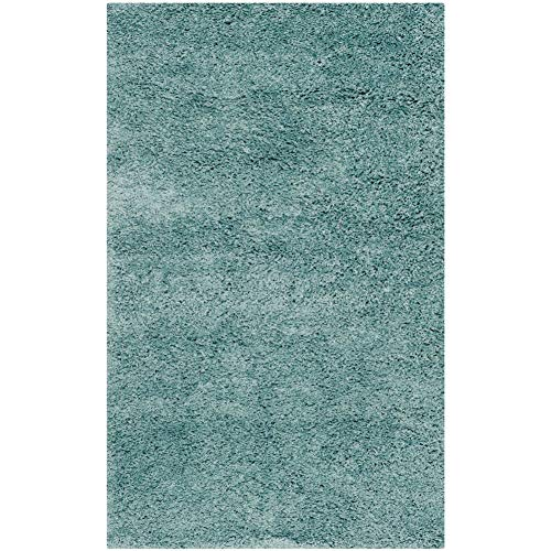 "Safavieh California Premium Shag Collection SG151-6060 2-inch Thick Area Rug, 2' 3"" x 5', Light Blue"