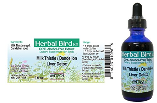 Milk Thistle / Dandelion Liver Detox Extract for BIRDs - 2oz by Avitech