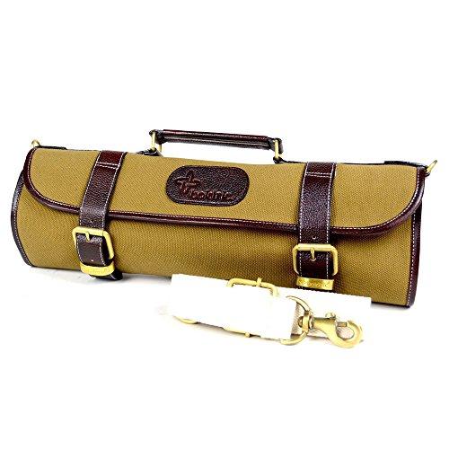 Boldric 9 pocket Canvas Roll Knife Bag Kahki by Boldric