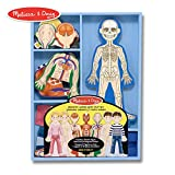 Melissa & Doug Magnetic Human Body Anatomy Play Set (Anatomically Correct Boy and Girl Magnets, 24 Magnetic Pieces and Storage Tray)