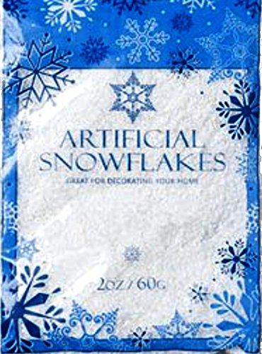 Snow artificial flakes oz bag printed polybag