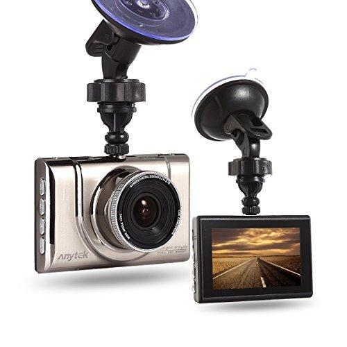 Anytek Car Dash Cam Full HD 1080P 170 Wide Angle Dashboard Camera, 3.0'' Screen Car DVR Vehicle Dash Camera with G-Sensor, Night Vision, WDR, Loop Recording
