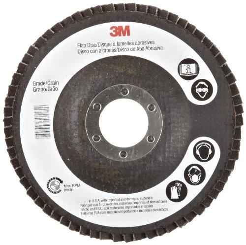 3M Flap Disc 577F, T27, Alumina Zirconia, Dry/Wet, 4-1/2