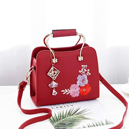 Color de 24 PU Bolso Mujer Rojo Mensajero Hombro Colores Pequeña 6 Vino de de la cm 10 Bolso Marea Bolso Bolsa la de Bolsa Bolso ZDD 19 de Moda 0PwFqP