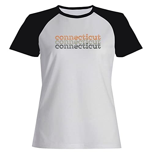 Idakoos Connecticut repeat retro – Stati Uniti – Maglietta Raglan Donna