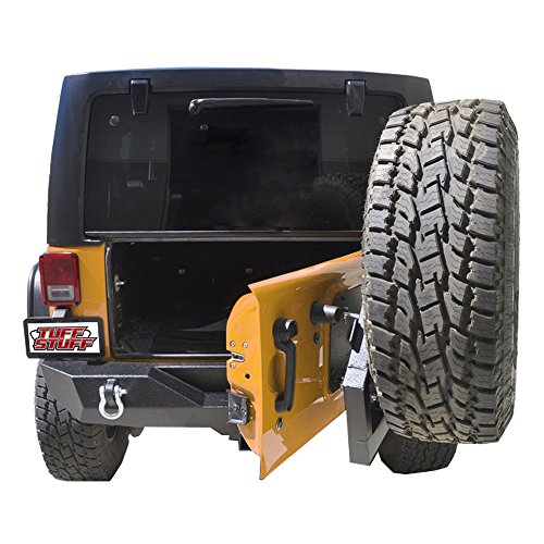 Tuff Stuff Single Action Jeep Wrangler JK Rear Bumper and Tire Carrier