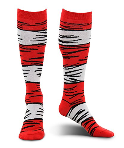 Dr. Seuss Cat in the Hat Kids Costume Socks by (Dr Seuss Costume For Kids)