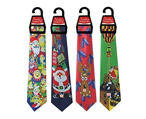 1 x Musical Christmas Tie for Adults - One Pack Sent at Random Tallon International