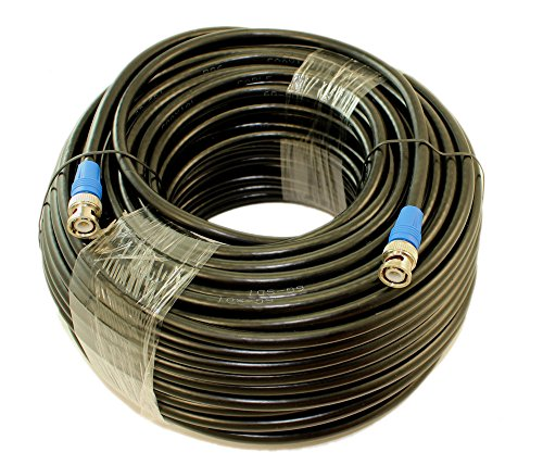 MyCableMart 150ft 6G-SDI (4K) BNC Coax Cable, RG6/18AWG Male to Male, Nickel Plated by My Cable Mart (Image #1)