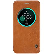 KaiTeLin Asus Zenfone 3(ZE552KL) Case - Leather Classic Vintage Business Smart Sleep Function Horizontal Flip Case Slim Wallet Flip Leather Case for Asus Zenfone 3(ZE552KL) - Brown