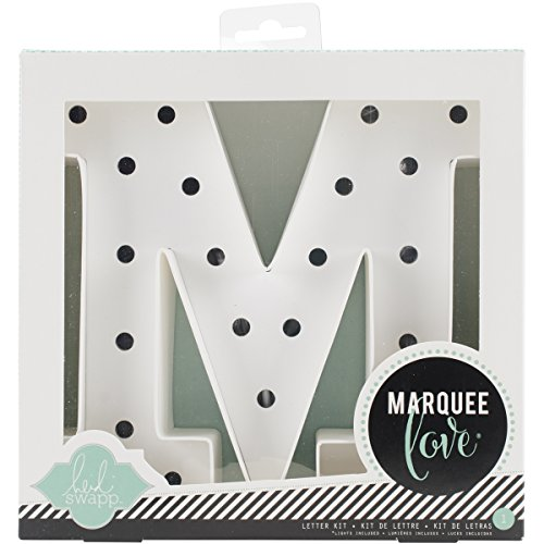 American Crafts 369092 Heidi Swapp Marquee Love 8-inch Marquee Kit by | Letter M | Includes DIY Marquee Letter,...