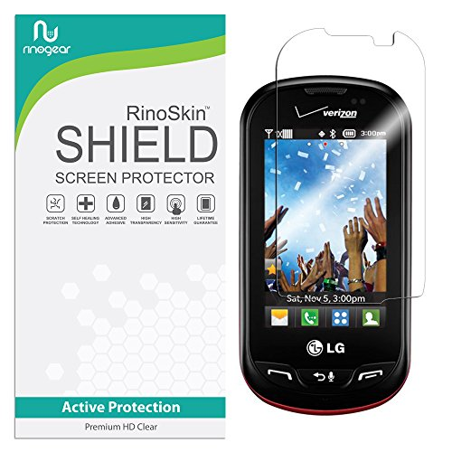 (LG Extravert Vn271 Screen Protector RinoGear Case Friendly Screen Protector for LG Extravert Vn271 Accessory Full Coverage Clear Film)