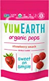 YumEarth Organic Strawberry Lollipops, 3 Ounce (Pack of 6), 14 Lollipops per Pack