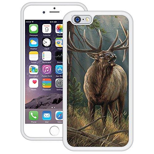 Elch | Handgefertigt | iPhone 6 6s (4,7') | Weiß TPU Hülle