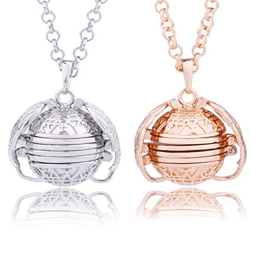 2 Pieces Expanding Photo Box Locket Foldable Multi Layer Necklace Pendant