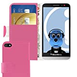 iTALKonline BlackBerry Z30 Pink PU Leather Executive Multi-Function Wallet Case Cover Organiser Flip with Credit / Business Card Money Holder