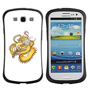 Suave TPU GEL Carcasa Funda Silicona Blando Estuche Caso de protección (para) Samsung Galaxy S3 I9300 / CECELL Phone case / / Golden Yellow Dragon Serpent Long Tail /