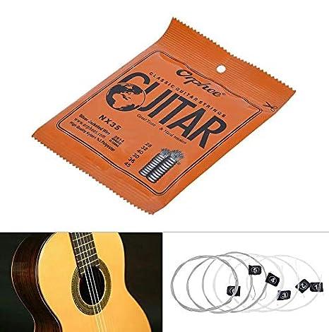 juego de cuerdas guitarra Clásica orphee nx35 Nylon Plata De ...