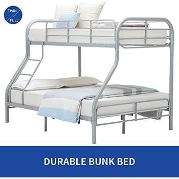 Twin Over Full Bunk Bed Metal Dorel Multiple