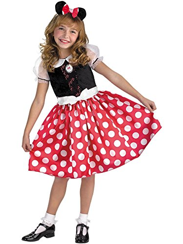 Disney Mickey Mouse Minnie Mouse Classic Girls Costume, Small/4-6x -