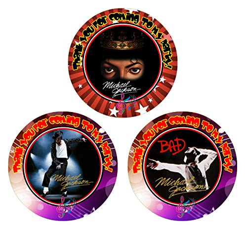 Crafting Mania LLC. 12 Michael Jackson Anniversary Birthday Party Favor Stickers (Bags Not Included) #1
