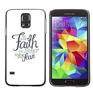 FECELL CITY // Duro Aluminio Pegatina PC Caso decorativo Funda Carcasa de Protección para Samsung Galaxy S5 SM-G900 // God Meaning Text Religious Religion
