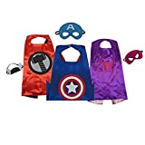 beolous Costumes Dress up for Kids Capes and Masks for Our Little Hero(3 Pack)