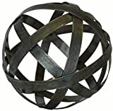 Metal Ball Sphere Decorative,(Coffee Table, Accent, Bowl)   by Urban Legacy (6 inch)