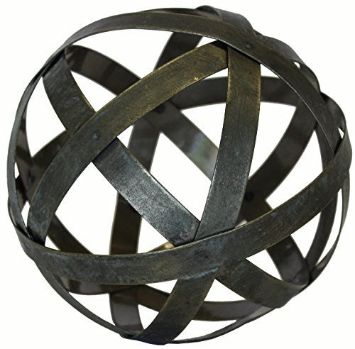 Decorative Metal Accents - Metal Ball Sphere Decorative,(Coffee Table, Accent, Bowl) | by Urban Legacy (6 inch)