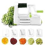 Spiralizer 5-Blade Vegetable Slicer by Homeleader, Spiral Slicer with Heavy Duty Base for Fruits, Noodles, Vegetables, Spaghetti, Food Spiralizer Low Carb/Paleo/Gluten-Free Meals