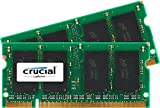 Crucial 4GB Kit (2GBx2) DDR2 667MHz (PC2-5300) CL5 SODIMM 200-Pin Notebook Memory Modules CT2KIT25664AC667 / CT2CP25664AC667 by Crucial Technology
