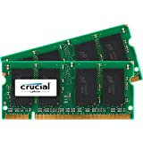 Crucial 2GB Kit (1GBx2) DDR2 667MHz (PC2-5300) CL5 SODIMM 200-Pin Notebook Memory Modules CT2KIT12864AC667