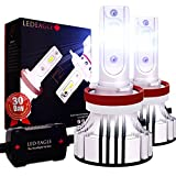 H11 LED Car Headlight Bulbs Conversion Kit, LED EAGLE 72W 12000LM 6500K CREE-XD Super Bright Cool White 12V Replace Auto Truck SUV Halogen HID Lights High Low Beam Fog Light Plug and Play H8 H9 2pcs