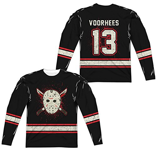 Friday The 13th - Jason Voorhees Costume Jersey All Over Front/Back Print Long Sleeve Shirt]()