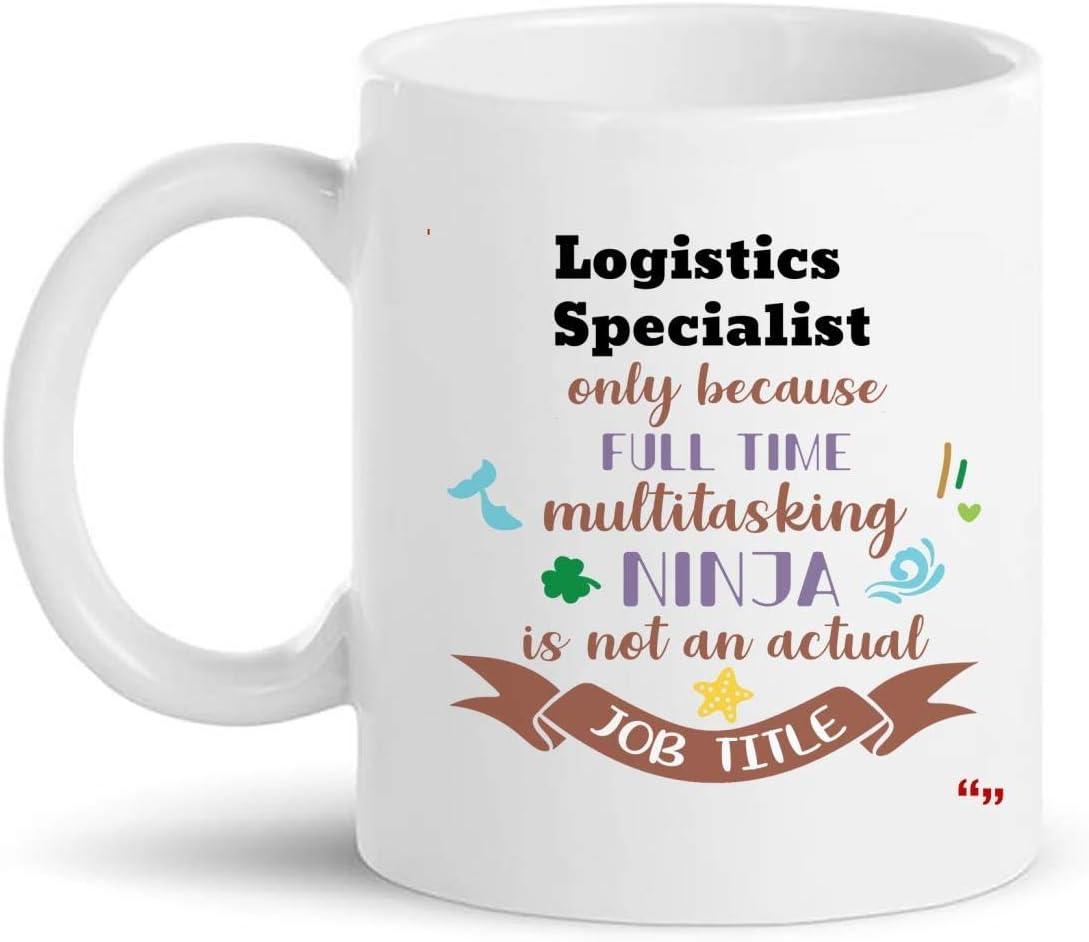La mejor taza de especialista en logística Taza de café de 11 oz - Regalo de especialista en logística Regalos personalizados para hombres Camisetas de mujer Tazas Tazas