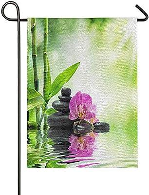 CC Decoration Home Garden Flags, Banderas Japonesas Elegantes del Jardín Estacional del Bambú De La Orquídea del Zen para La Yarda del Jardín 32 * 48cm: Amazon.es: Jardín