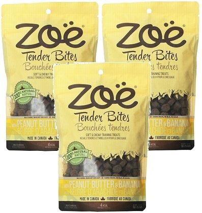 (3 Pack) Zoe Peanut Butter and Banana Dog - Peanut Butter Banana Dog Treats