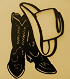 Cheap Western,Cowboy,Boot,Hat,Wall Accent,Metal Art,Lodge , Approximate size: 8 1/4″ W x 12″