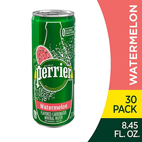30 Count of Perrier Watermelon Flavored Carbonated Mineral Water, 8.45 fl oz. Only $8.52