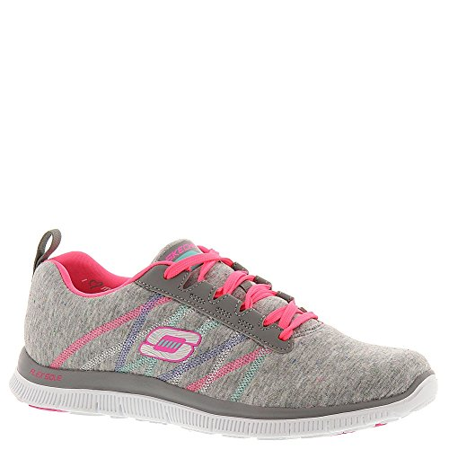Worker Para Zapatillas Light Flex Appeal Miracle Gray pink Skechers Mujer axg7qtan