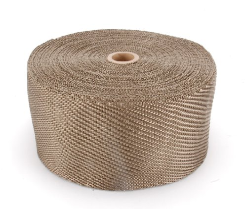 DEI 010134 Titanium Exhaust Heat Wrap with LR Technology, 4'' x 100' Roll by Design Engineering