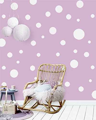Create-A-Mural Polka Dot Wall Stickers, Wall Decor Stickers, Wall Dots, Vinyl Circle Room Dot Decals - Mural Polka Dot