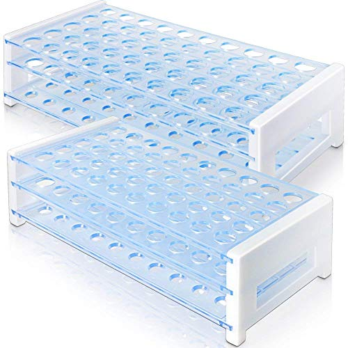 (Test Tube Rack, HNYYZL 2 Pack 50 Hole Detachable Plastic Test Tube Rack for 13mm& 16mm Test Tubes)