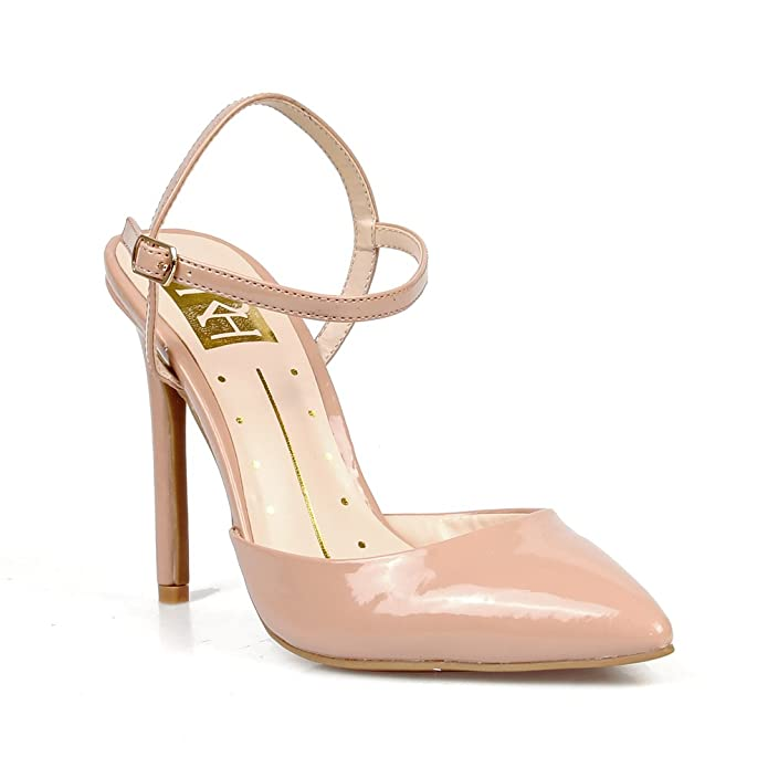 879bcd48a4 Amazon.com: Fahrenheit Vivien02 Pointy-Toe Women's High Heel Pumps in Nude:  Shoes