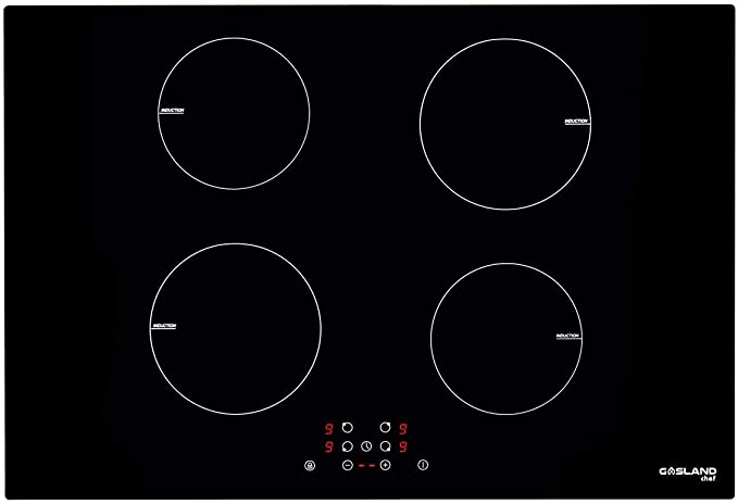 Amazon Com 30 Built In Induction Cooktop Gasland Chef Ih77bf Electric Induction Hob 240v Drop In 4 Burner Induction Stovetop 9 Power Levels Sensor Touch Control Child Safety Lock 1 99 Minutes Timer Kitchen Dining